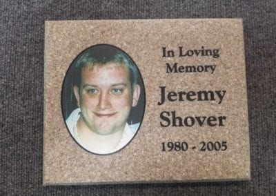 Corian Memorial Printed & Engraved