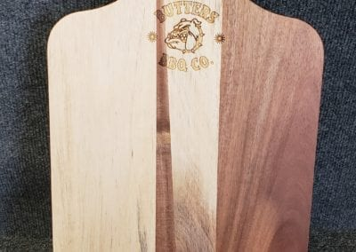 Cutting board with logo