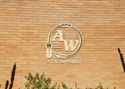 Dimensional logo aluminum