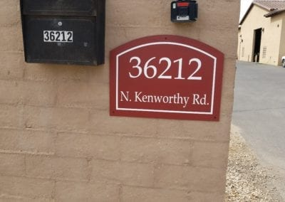 Printed Aluminum address sign