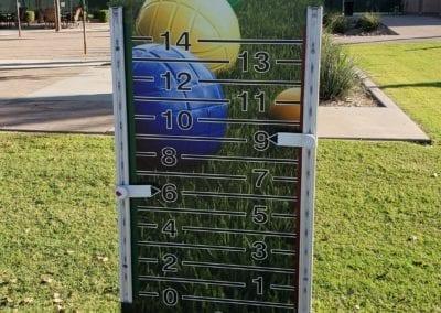 Printed scoreboard