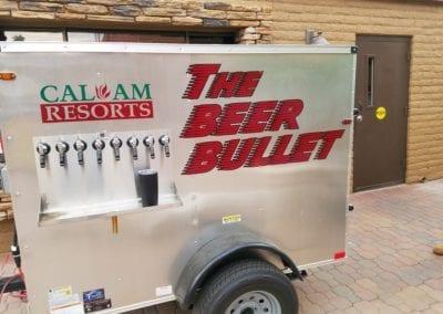 Beer Trailer lettering
